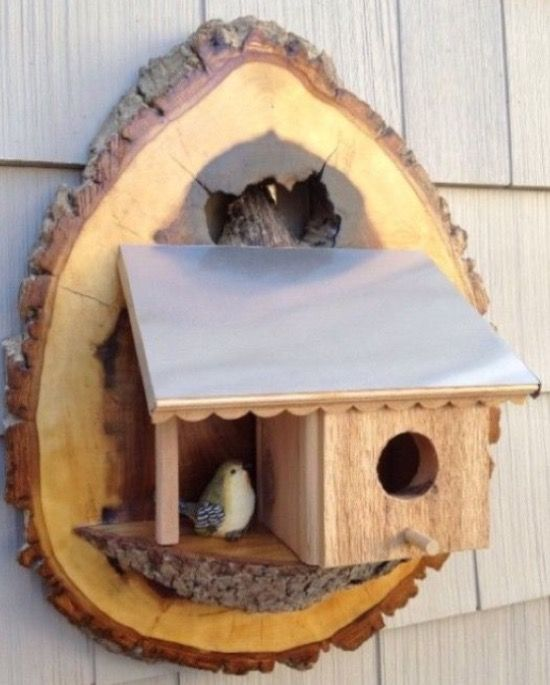 birdhouse made from scraps