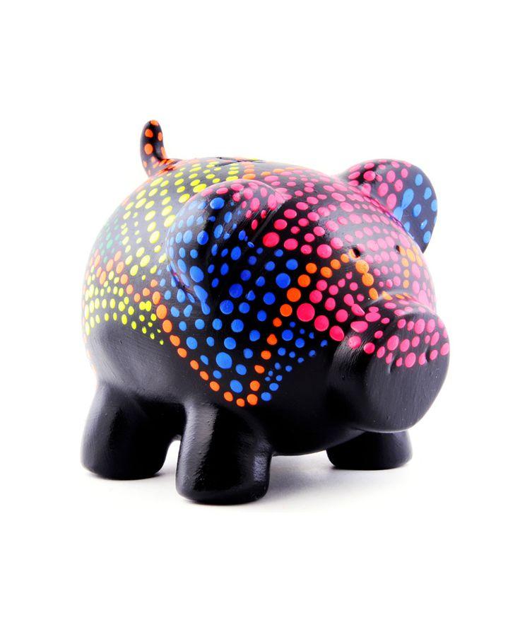 Cerdito puntos de color - Alcancía Encuentra más regalos creativos en https://www.giferent.com/regalos-te-extrano