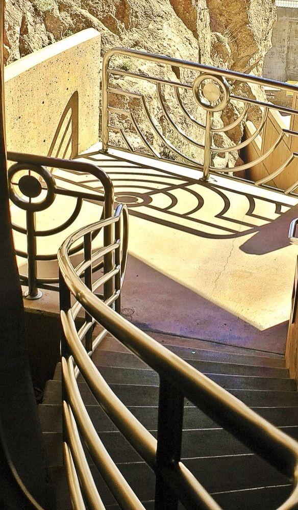 Hoover Dam - Nevada USA. Art Deco design railings