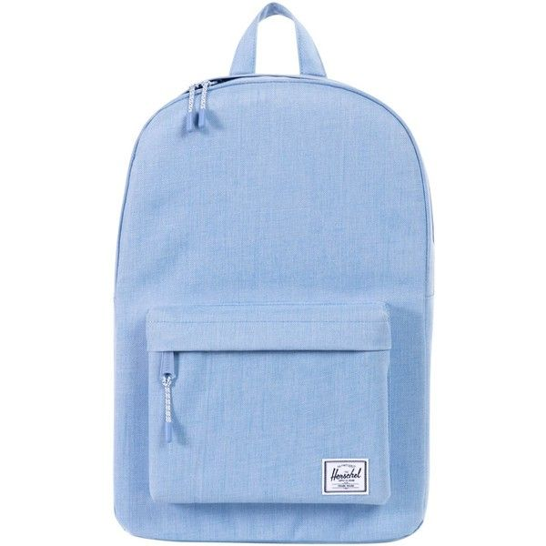 Herschel Classic Backpack found on Polyvore featuring bags, backpacks, blue, zip bags, stripe backpack, knapsack bags, striped backpack and stripe bag