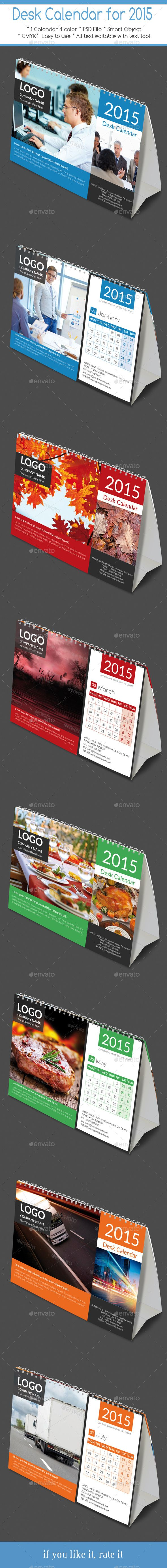 Desk Calendar for 2015 ready for print - Calendars Stationery