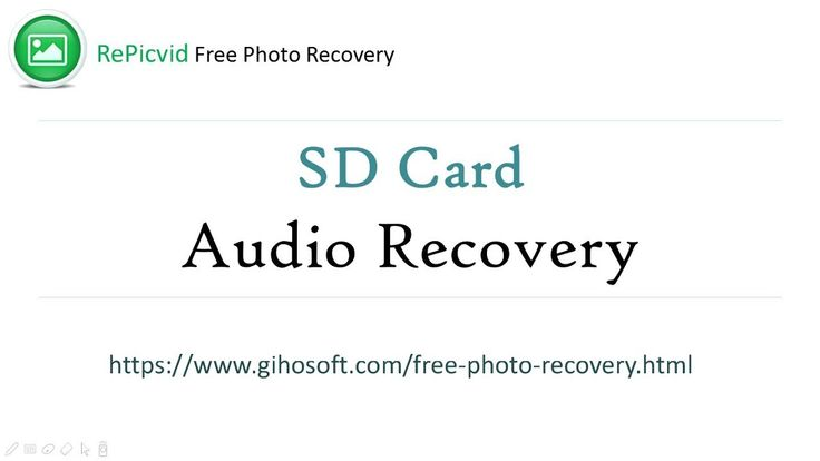 SD Card Audio Recovery