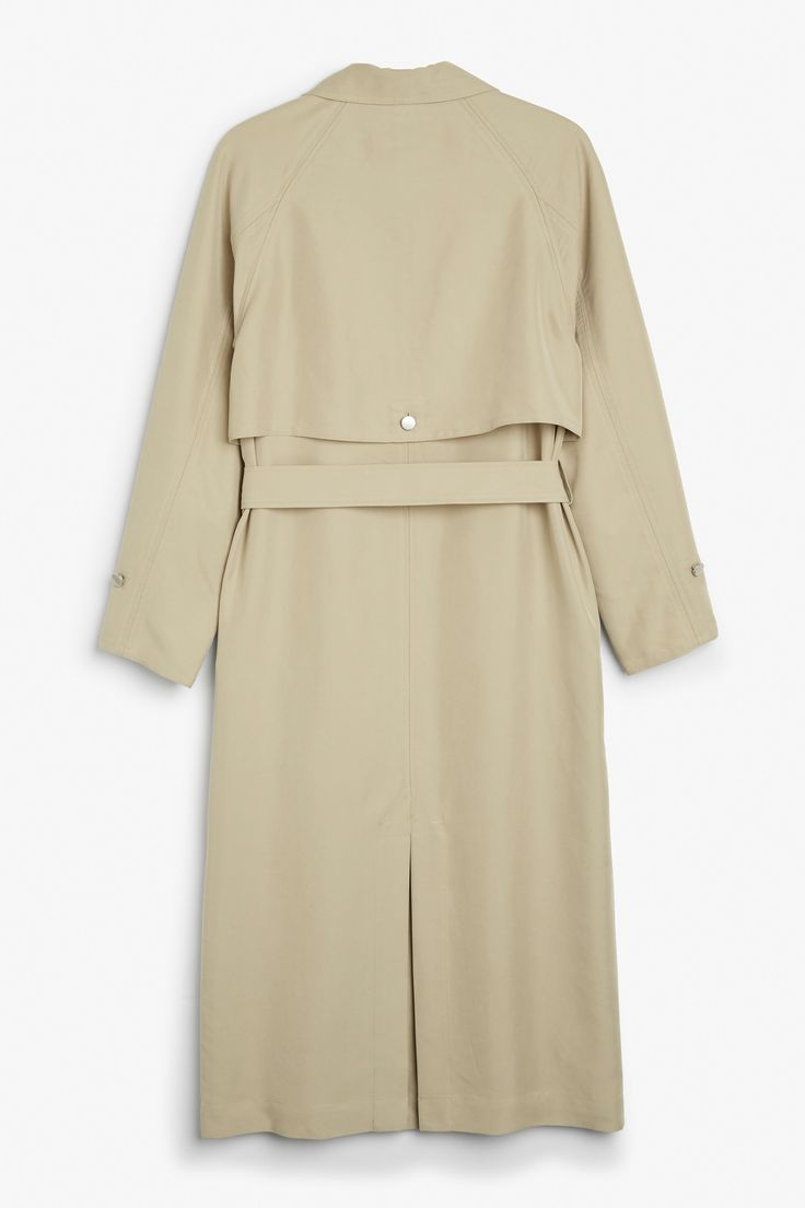 Monki Image 5 of Trench coat in Beige