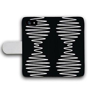 Fullbody Etuier - iPhone 5S/iPhone 5 - Grafisk ( Svart , PU / Lær ) – NOK kr. 68