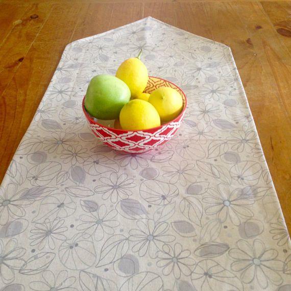 Linen Table Runner Floral Table Runner