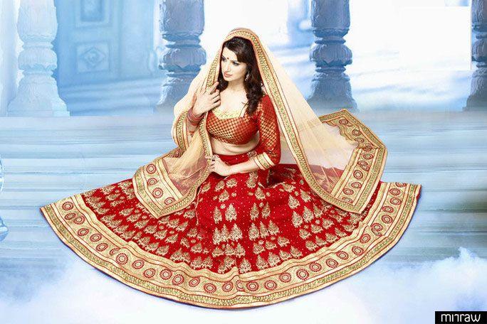 Amazing red color bridal lehenga