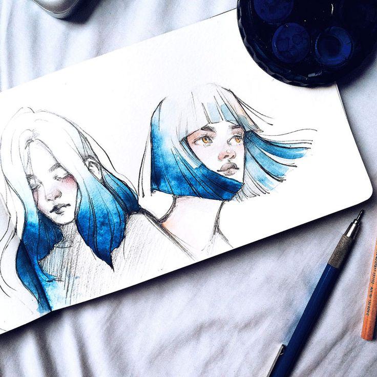 Kelogsloops est un artiste qui vit et pratique son art à Melbourne en Australie. Il réalise tout un tas de peintures, souvent des visages féminins qu'il peint avec beaucoup de délicatesse et de couleurs harmonieuses. Voici une sélection que j'ai réalisé dans son travail : - Petit bonus vidéo…