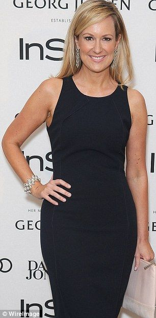 Melissa Doyle shows off her figure in a monochrome ensemble  #melissadoyle #monochome #celebrity #fashion
