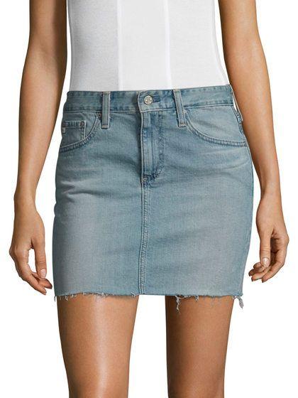 Sandy Mini Denim Skirt by AG Adriano Goldschmied at Gilt