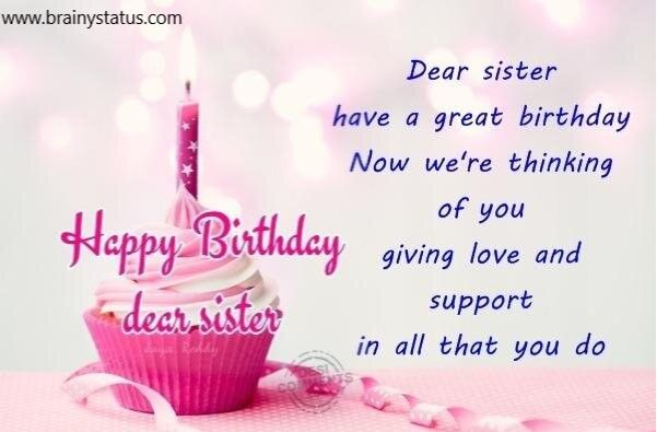 Miraculous Birthday Status For Sister Wishes And Quotes Birthday Status Funny Birthday Cards Online Alyptdamsfinfo