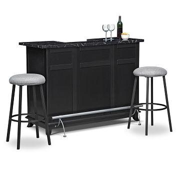 American Signature Furniture Pandora Dining Room 3 Pc Bar Set Di