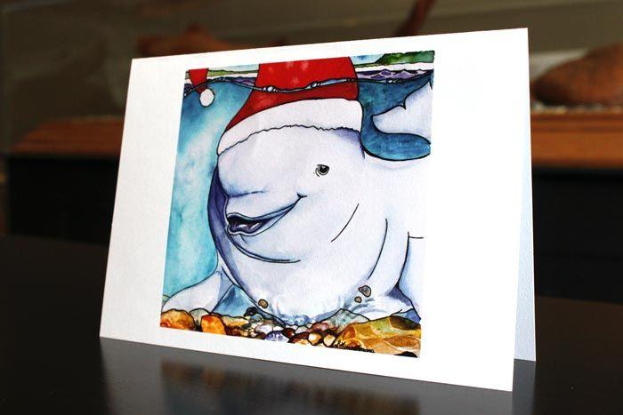 Santa Hat - art by Laura Timmermans (Belugas)