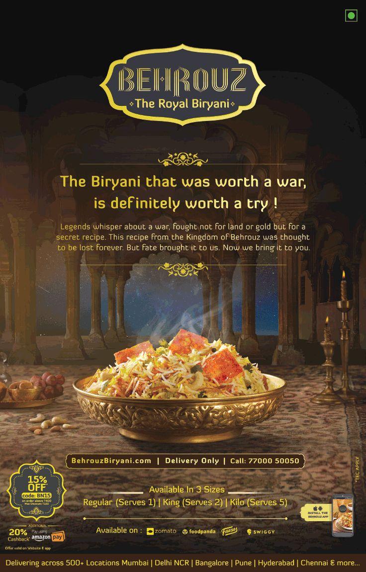 Behrouz the royal biryani delivering across 500 locations