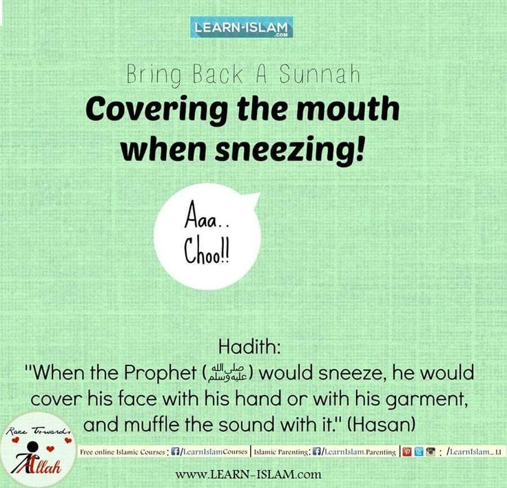 Whenever the Messenger of Allah salallahu 'alayhi wa sallam sneezed, he would cover his mouth with his hand or a piece of cloth, suppressing the sound this way. [Abu Dawud and At-Tirmidhi] #Islam #Quran #Sunnah #Hadeeth #Hadith #Muslim #Aqeedah #Ummah #Muslimah #Hijad #Beard #Niqab #Niqabi #Niqabis #Deen #Dawah #Tawheed #LearnIslam #ForgottenSunnah #ReviveaSunnah #Fatiha #Salah #Etiquette #WhoisMuhammad