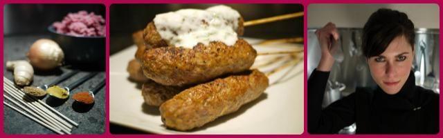 Le ricette di Alessia Vicari, shish kebab con salsa allo yogurt