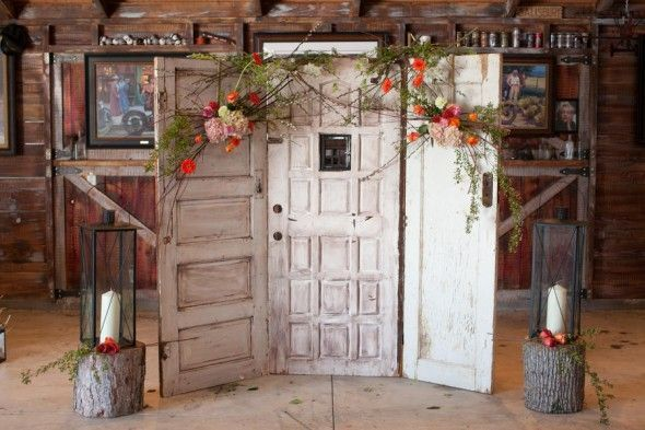 DIY garlands for your wedding with silk and preserved flowers from Afloral.com.  Pinned by Afloral.com from http://rusticweddingchic.com/vintage-inspired-barn-wedding