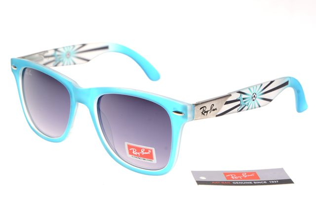 Ran-Ban Rare Print 25093 Blue Pattern Frame Gray Lens RB76 [RB193] - $22.68 : Top Ray-Ban® And Oakley® Sunglasses Online Sale Store- Save Up To 80% Off