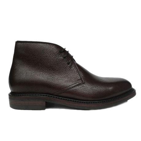 Zapato botín chukka piel grabada goma dainite Berwick 1707 vista lateral
