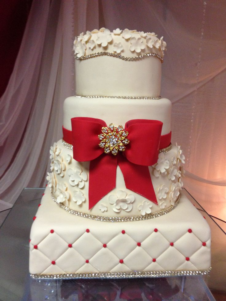Red and White wedding design