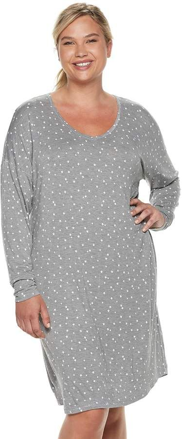 078936071c3 Sonoma Goods For Life Plus Size SONOMA Goods for Life High-Low Sleepshirt