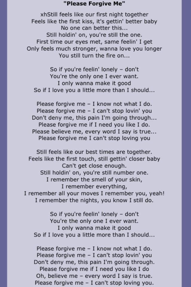bryan adams song lyrics two pinterest forgive me