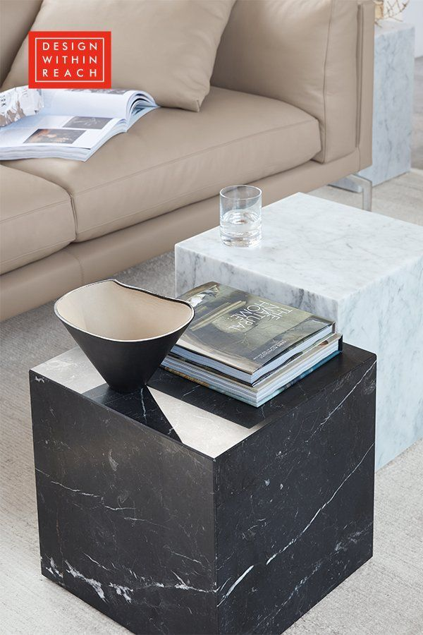 Plinth Cube Side Table Cube Side Table Marble Side Tables