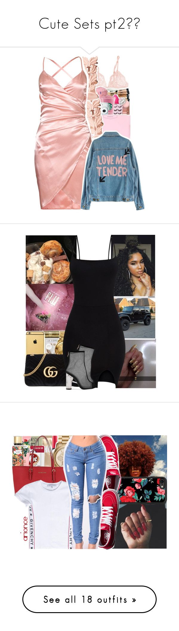 """Cute Sets pt2😍✨"" by slayed-fashion ❤ liked on Polyvore featuring La Perla, Giuseppe Zanotti, Givenchy, Gucci, Lapcos, Victoria's Secret, MICHAEL Michael Kors, Jack Spade, Disney and Casetify"