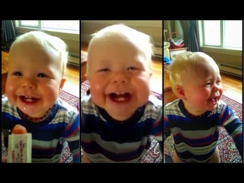 Baby Laughs Hysterically at Dad's Coughing (Video) - The Good News Network