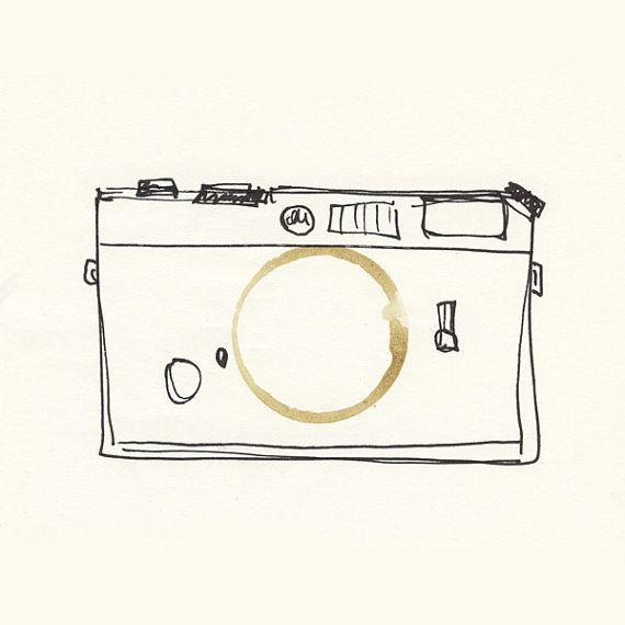 Illustration  Coffeedoodle No. 06  Leica/Kamera von leBeat auf Etsy