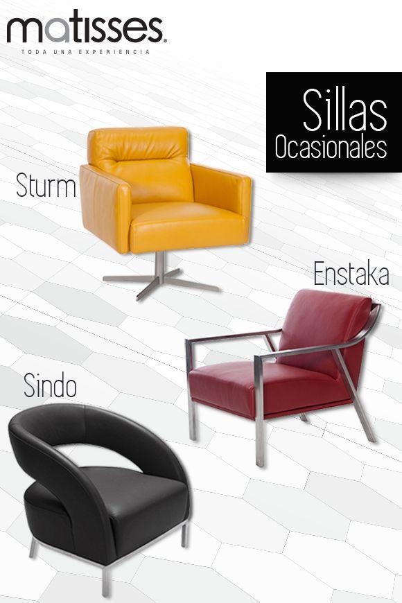 Sillas ocasionales con materiales y diseños que brindan confort. Dale a tus espacios elegancia y modernidad. Conoce más estilos de sillas ocasionales aquí -->> http://www.matisses.co/78-ocasional