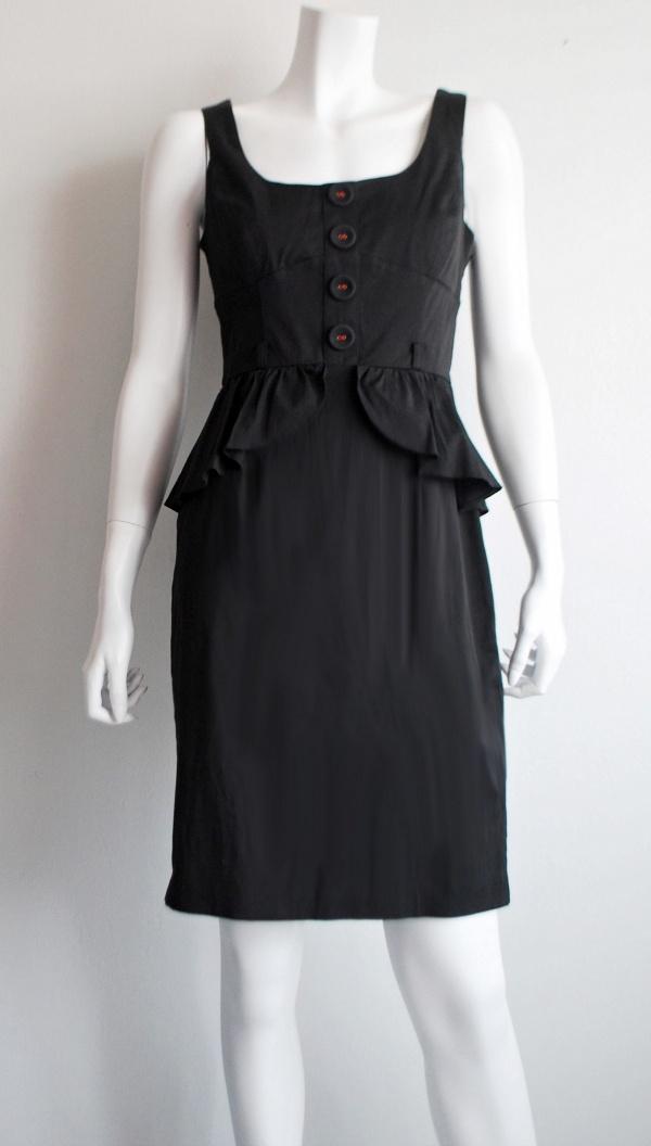 River Island sleeveless black peplum dress | xo Nostalgia - Vintage and branded preloved | Online shopping Malaysia