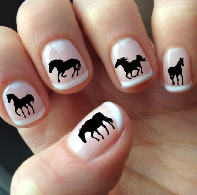 horse nail decals