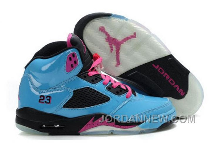 http://www.jordannew.com/womens-nike-air-jordan-5-shoes-sky-blue-black-pink-free-shipping.html WOMEN'S NIKE AIR JORDAN 5 SHOES SKY BLUE/BLACK/PINK FREE SHIPPING Only $89.75 , Free Shipping!