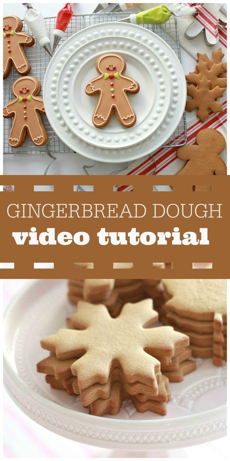 Gingerbread Cut Out Cookie Recipe and Gingerbread Man Decorating Video Tutorial