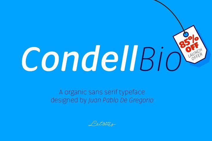 Condell Bio, 85% off Launch offer - Sans Serif