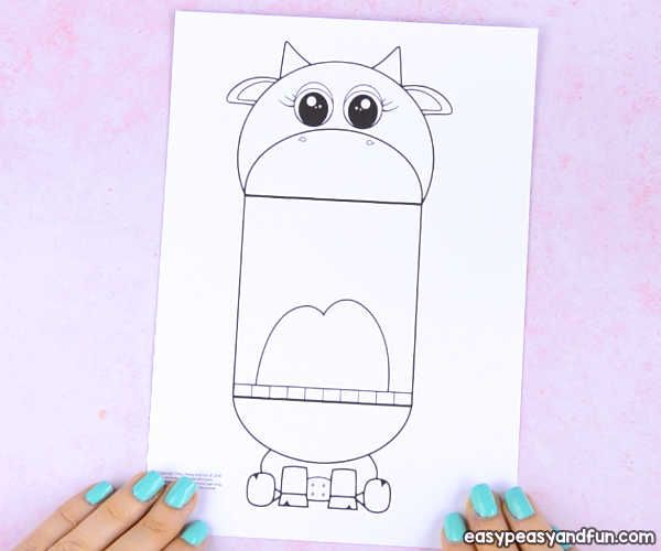 Surprise Big Mouth Cow Printable Cow Craft Cat Printable Printable Crafts