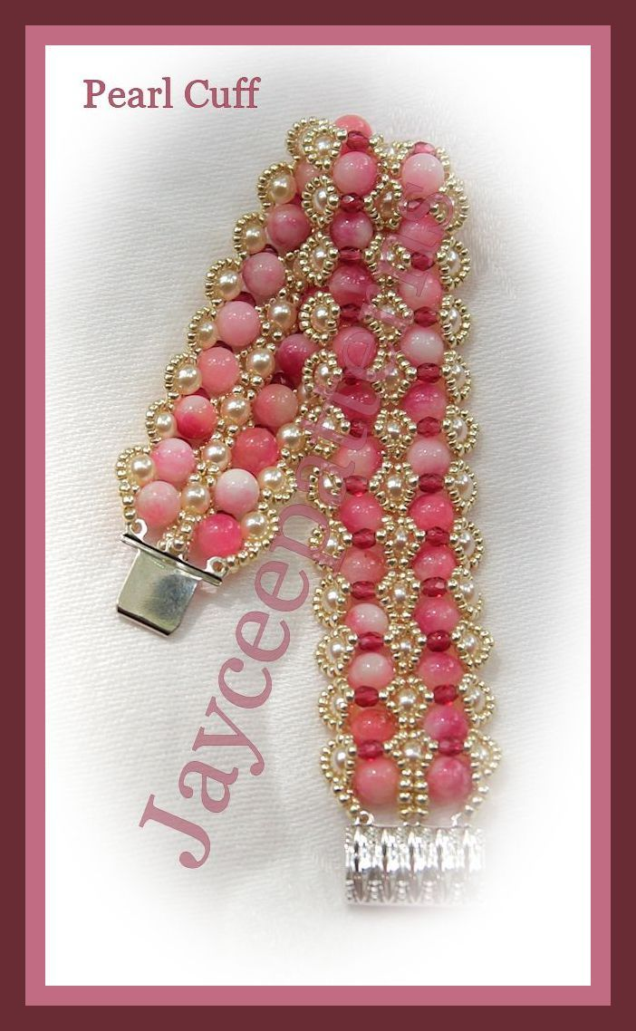 Free Printable Seed Bead Patterns | This lovely cuff is constructed using embellished