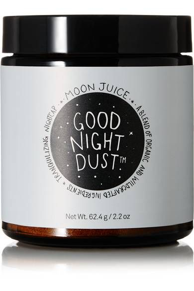 Moon Juice Good Night Dust Get Gwyneth about your commitment to a restful sleep! Her go-to smoothie enhancer brand's sleep mixture spooned into any hot or cold drink soothes the mind, stabilizes REM cycles, and promotes the natural nocturnal rhythm of the body. With chamomile and zizyphus, it stimulates melatonin release, steadies blood flow, and helps detox the pancreas and liver.