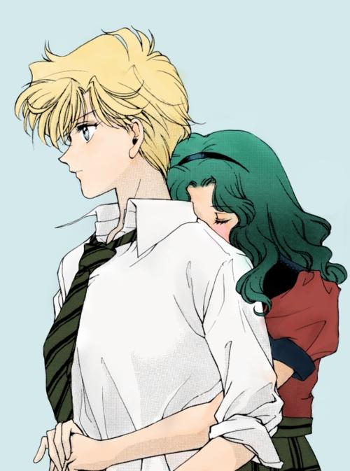 sailor moon, Haruka and Michiru.<3