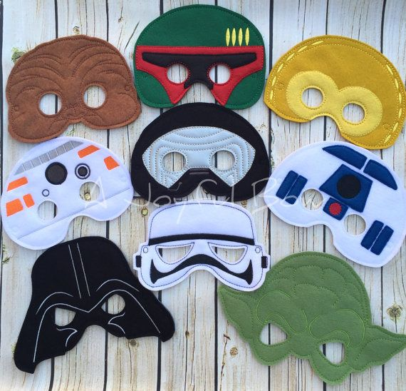 Star Wars inspired dress up or party favor masks