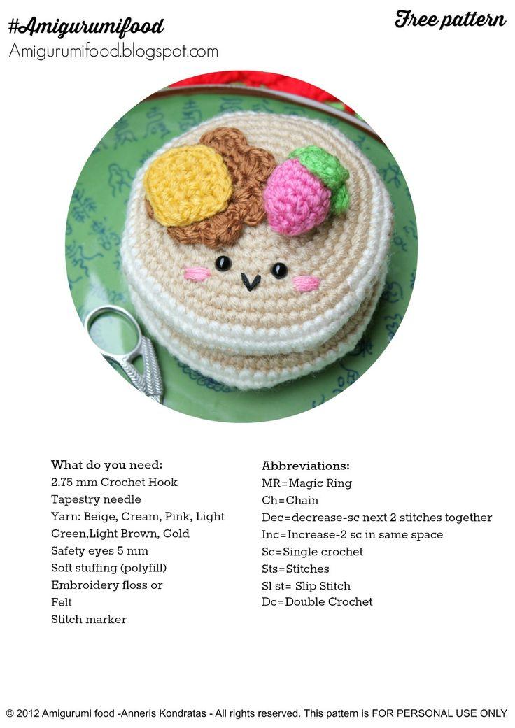 Amigurumi How To Read Pattern : Amigurumi Food: New updates! Amigurumi Food Free pattern ...