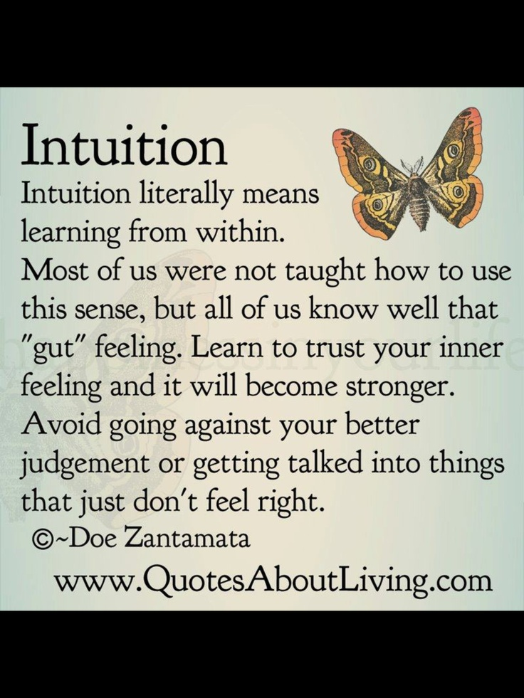 Go With Your Gut Feeling Quotes. QuotesGram