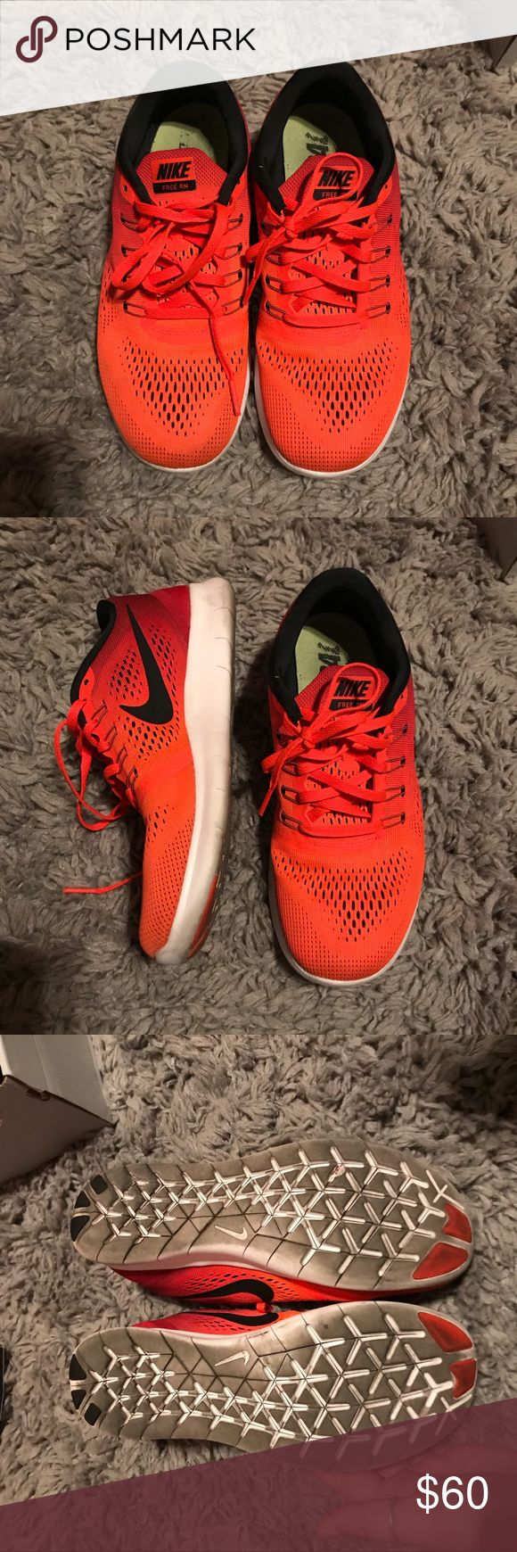 RED NIKE FREE RN SIZE 8.5 Nike free Rn running shoe Size 8.5 Next or same day ship Feel free to ask questions :) Nike Shoes Sneakers
