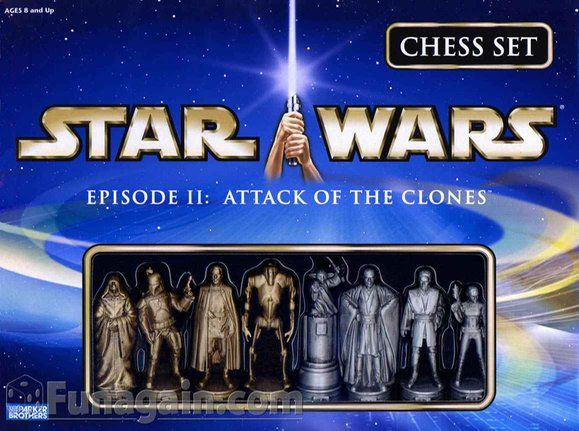 Star Wars Episode II: Attack of the Clones chess set (2003)