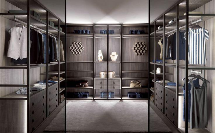 Spectacular Kleiderschrank mit Garderobe und B cherregal in einem Design von Novamobili Anfertigung nach Ma Kleiderschrank Garderobe wardrobe closet e u