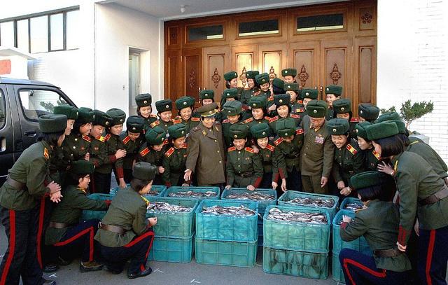 경애하는 김정은원수님께서 보내주신 은정어린 물고기를 받아안고 기뻐하는 혁명학원원아들과 탁아소, 유치원 어린이들(2)-1 by 우리민족끼리, via Flickr
