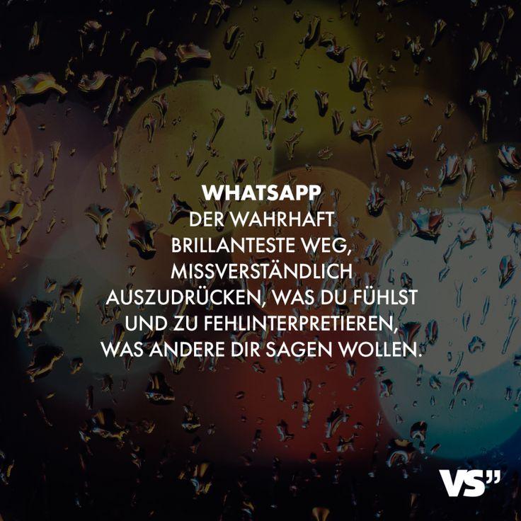 Visual Statements® Whatsapp. Der wahrhaft brillianteste Weg, missverständlich … – VISUAL STATEMENTS