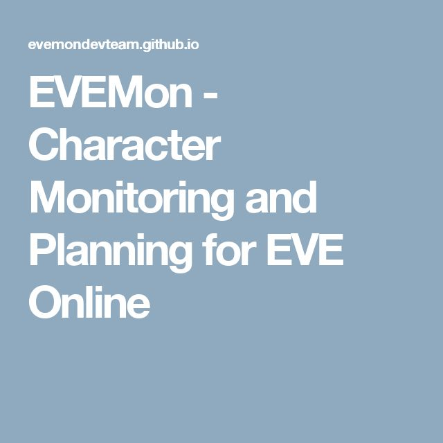 EVEMon - Character Monitoring and Planning for EVE Online