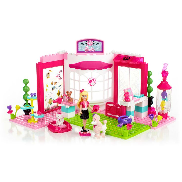 Lego Beach House Walmart: Mega Bloks Barbie Build 'n Style