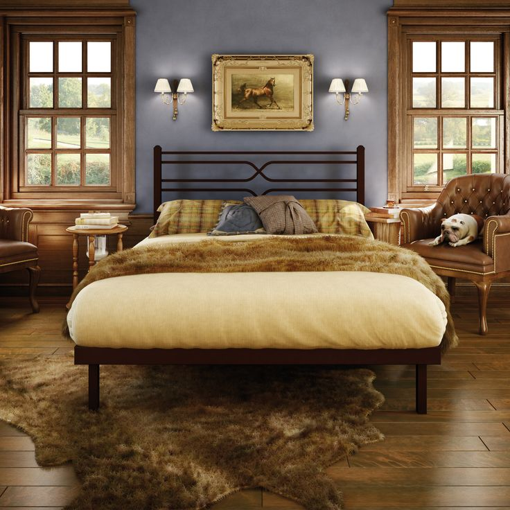 AMISCO - Timeless Bed (12374) - Furniture - Bedroom - Library Luxe collection - Traditional - Platform bed